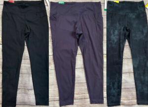 "Danskin Interlock Black or Marble or Purple Legging  25"" Inseam XS S M L XL XXL"