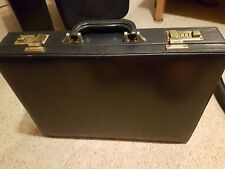 BRIEF CASE / DARK BLUE / BRASS FITTINGS / COMBI LOCKS / INSERTS / GOOD CONDITION
