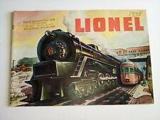 ORIGINAL 1948 LIONEL TRAIN CATALOG IN EXC- CONDITION