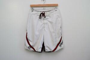 Vintage Red Andy Irons Signature Billabong Lined Hawaiian Surf Board Shorts 32