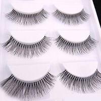 5 Pairs New Women Long Sparse Cross Eye Lashes Extension Makeup False Eyelashes