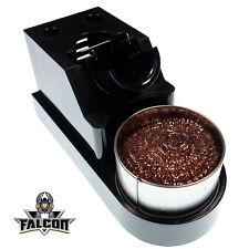 Falcon CXG Baquelita soldador de pie con alambre de limpieza esponja