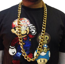 HIP HOP CHAIN NECKLACE • 50cm • GOLD STYLE • COSTUME #189