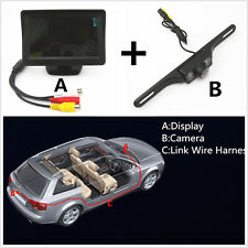 "4.3"" LCD Car Rear View Display Screen +Night Vision Waterproof HD Parking Camera"