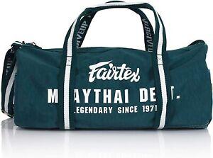 Fairtex Green Color Retro Style Barrel Duffel Bag - BAG9 - Durable & Stylish