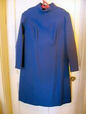 Original Vintage Ussr Women's Dress. Soviet Russian Clothing. Thick cloth. Blue