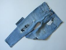 NWT Levi's Made & Crafted LMC 501 Taper in Jaws II Tulle Lace Ripped Jeans 27