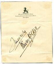 HENRY KOLKER - Actor & Film Director - 1915 Rare Autograph!