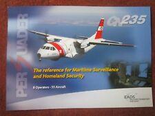 2007 DOCUMENT RECTO VERSO EADS CASA CN-235 PERSUADER MPA MARITIME SURVEILLANCE