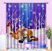 3D Kid Friends Blockout Photo Curtain Printing Curtains Drapes Fabric Window AU