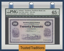 TT PK 190a 1970 IRELAND - NORTHERN 20 POUNDS SCARCE PMG 65 EPQ GEM FINEST KNOWN