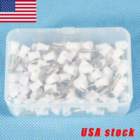 100 Pcs Dental Rubber Prophy Angle Cup Tooth Polish Cups Brush Latch Type MHA