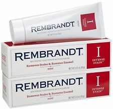 3 X Rembrandt Intense Stain Whitening Toothpaste Mint