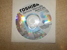 Toshiba TV VCR DVD Service Manual CD CDSMMAR03 *FREE SHIPPING*