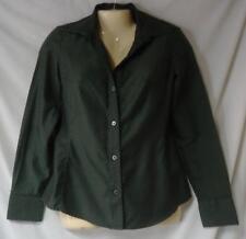 Junior's Green & Black Striped Shirt Size Small
