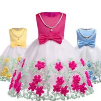 Kids Girl Flower Princess Dresses Pageant Party Formal Wedding Bridesmaid Dress