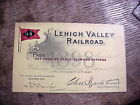 LEHIGH VALLEY RAILROAD L.V. 1898 DL&W  PASS with Map on Back