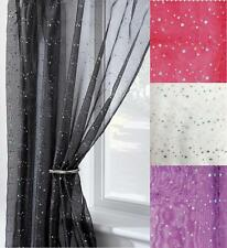1 x VOILE NET CURTAIN PANEL EYELET & SLOT TOP HEADER ~ Many Designs & Sizes