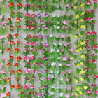 2.2m Rose Flower Ivy Vine Silk Flowers Hanging Garland Garden Wedding