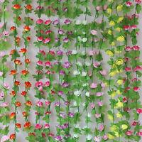 2.2m Rose Flower Ivy Vine Silk Flowers Hanging Garland Garden Wedding Nice