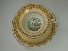 Vintage Foley Tea Cup and Saucer. Exotic Bird of Paradise. Broadway.