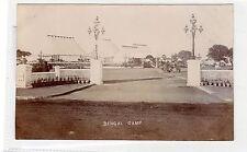 BENGAL CAMP: India postcard (C27990)