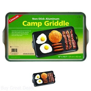 Camping Griddle Non Stick Outdoor Hiking Stove Grill Camp Burner Supplies Gear