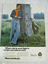 BUCKS TROUSERS WOOL RICH POSTER ADVERT READY FRAME A4 SIZE E