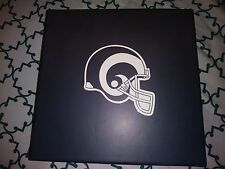 BRAND NEW LOS ANGELES RAMS BOX WITH 2  PINS, GAMEDAY GUIDE AND PANFLITS