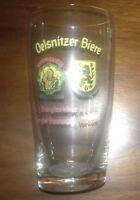 Bierglas Vereinsbrauer Oelsnitz/Vogtland + Wetzstein Brauerei Bierglasbörse 1972