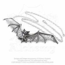 Gothic Fledermaus Anhänger Halskette Bat Vampir Amulett Talisman ALCHEMY P121