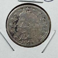 1886 Liberty Head V Nickel CULL ACID RESTORED FULL DATE KEY DATE
