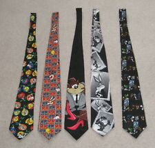 5 Looney Tunes Mania and Stamp Collection Official Mens Neck Ties Bugs Bunny USA