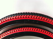 """2-BICYCLE TIRES 26"""" X 2.10 VEE RUBBER 2-TONE COLORS MTB BMX CRUISER CYCLING BIKE"""