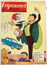 Fripounet Marisette Coeurs Vaillants  N° 4  du 24 JANVIER 1963 bon etat