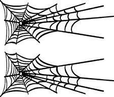 "Spider Web Graphics Car Vinyl Decals (12"" x 7"")"