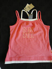 Girl's / Girls Coral Pink Pumpkin Patch Vest T-Shirt - BNWT - Age 3 years