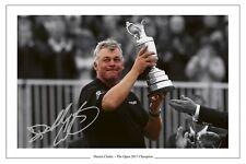 Darren Clarke l'Open Golf 2011 firmato foto stampa