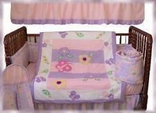 7 pcs Baby Girl Crib Bedding Set w/ Silk Fill Comforter