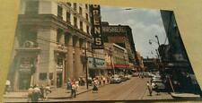 1950s McKeesport Pa. 5th Avenue View Hirshberg's Dept. Store ++ Postcard Repo