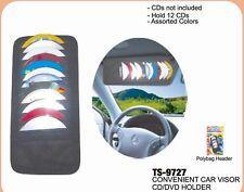 car visor cd holder dvd case storage 12 pocket organizer disc new