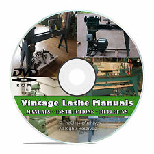 Lathe Owners Manuals, Instructions, Parts List, Atlas, Monarch Machine, 350+ V46