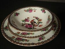 "Victoria Austria 7"" Luncheon China Plate 6 3/4"" Bread Plate & 5 5/8"" Berry Bowl"