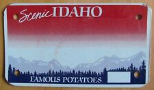 Idaho 1995 HOLOGRAM BLANK MOTORCYCLE License Plate HIGH QUALITY