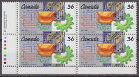 CANADA #1134 36¢ Engineering Institute Centenary LL Inscription Block MNH