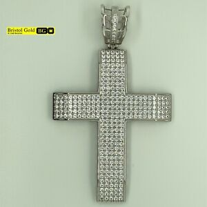 925 CRUCIFIX PENDANT Sterling Silver Fully Hallmarked - FREE P&P