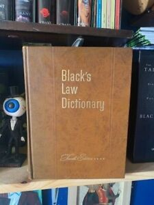 Black's Law Dictionary Fourth Edition (1951)