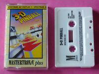 Sinclair ZX Spectrum - Mastertronic 3-D 3D PINBALL 1989 *NEW!