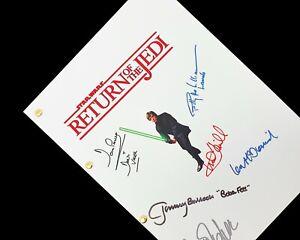 Star Wars Return of the Jedi Script Signatures Autographs Reprint Luke Leia Han