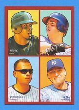 2009 Upper Deck Goudey 4-In-1 #97 Derek Jeter/Alex Rodriguez/David Wright/Reyes
